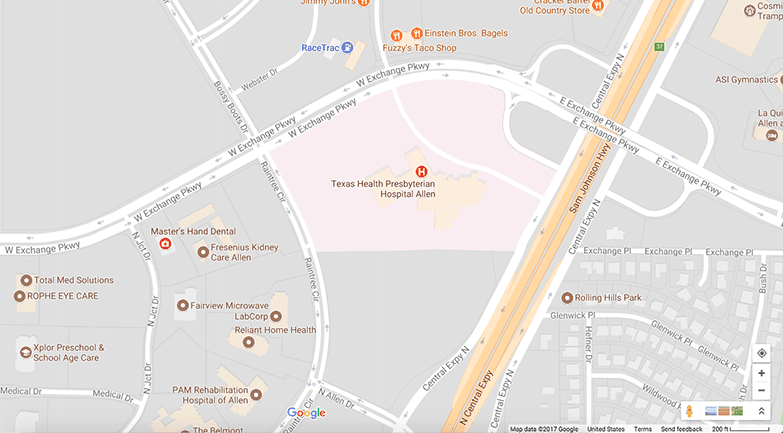 Allen Google map - ALLEN