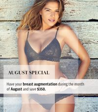 august specials ad - August is:  National Breast Augmentation Month Or it should be!